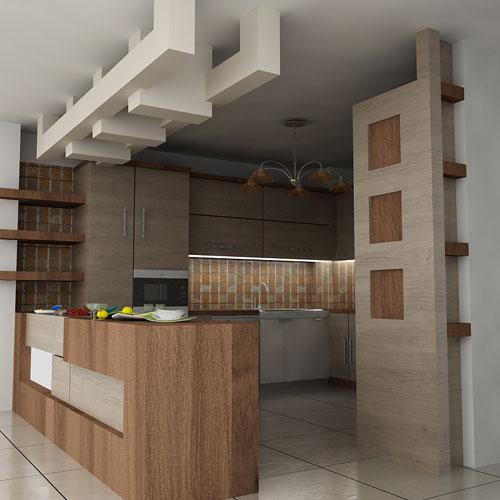 طراحی اشپزخانه ام دی اف